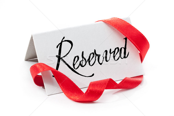 Reserved Stock photo © grafvision