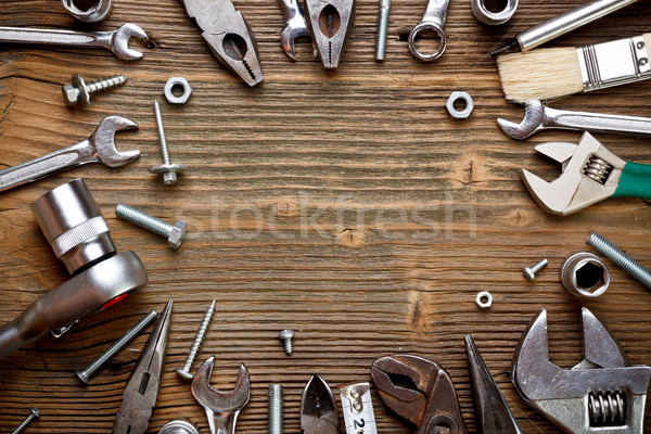 Group of used tools Stock photo © grafvision