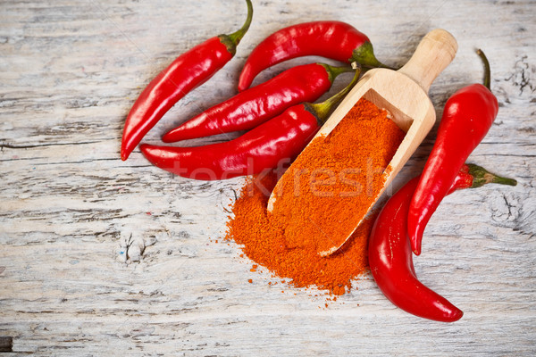 Milled red chili pepper Stock photo © grafvision