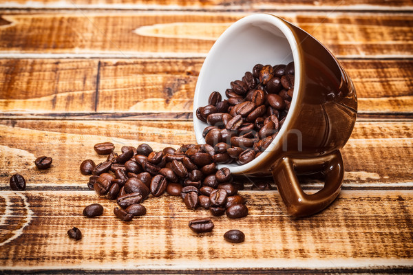 Caffè tazza di caffè grano legno energia sementi Foto d'archivio © grafvision
