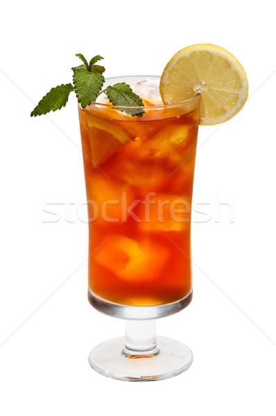Soğuk buzlu çay taze limon nane Stok fotoğraf © grafvision