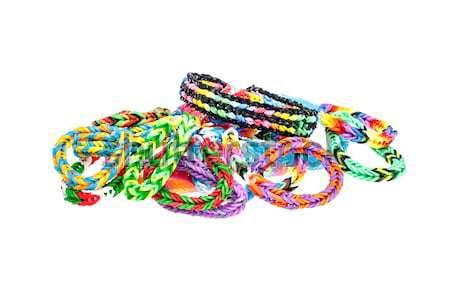 Rainbow bracelet coloré isolé blanche vert Photo stock © grafvision