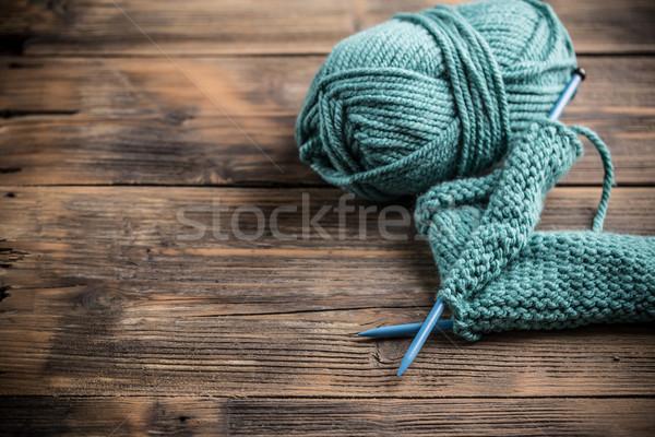 синий пряжи хвоя моде Сток-фото © grafvision
