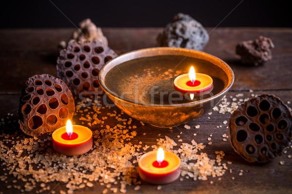 санаторно-курортное лечение таблице огня здоровья фон массаж Сток-фото © grafvision