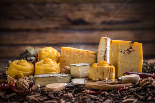 ストックフォト: チーズ · ファーム · 国 · 農業 · 新鮮な