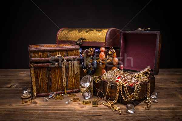 Small pirate treasure chest Stock photo © grafvision