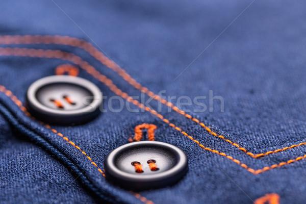 デニム スカート ボタン 詳細 テクスチャ ストックフォト © grafvision