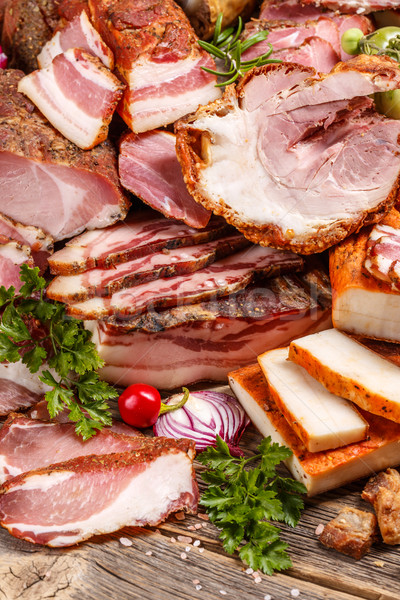 Smoked pork meat Stock photo © grafvision