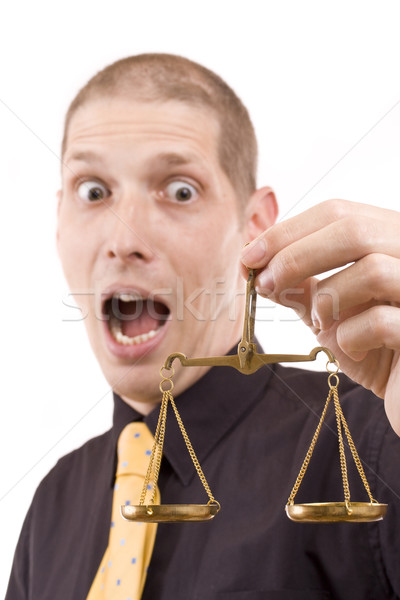business man holding a justice scale Stock photo © grafvision