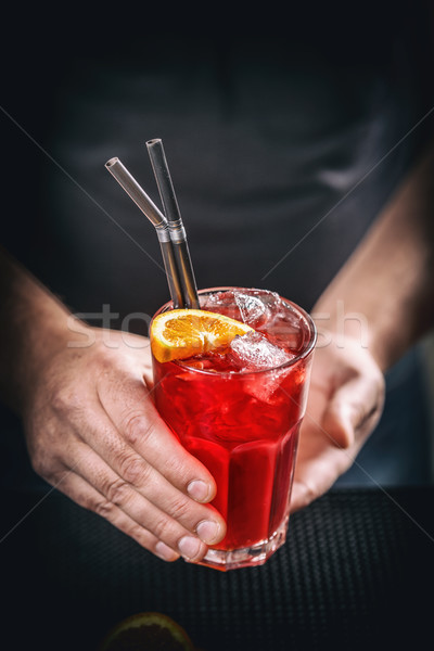 Red non alcoholic cocktail Stock photo © grafvision