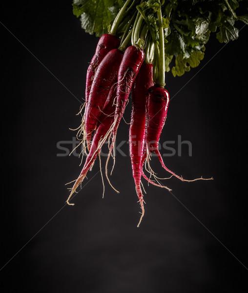新鮮な オーガニック 葉 暗い 背景 ストックフォト © grafvision