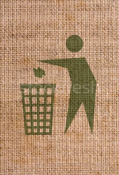Limpar assinar reciclar símbolo lona Foto stock © grafvision