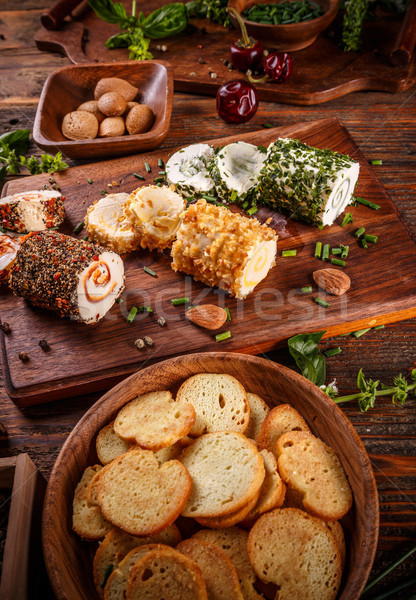 Cheese with colorful stuffing Stock photo © grafvision