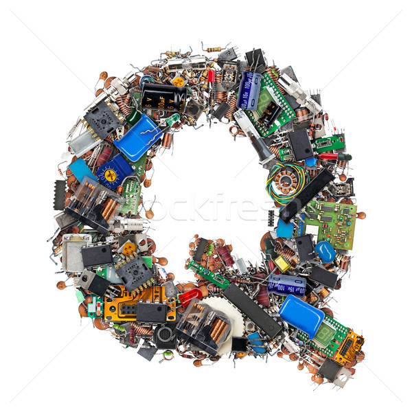 Letter Q made of electronic components Stock photo © grafvision