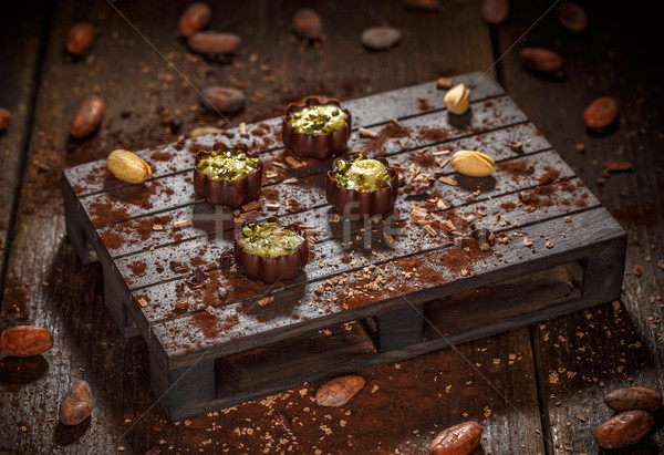 Luxury chocolate bonbons  Stock photo © grafvision