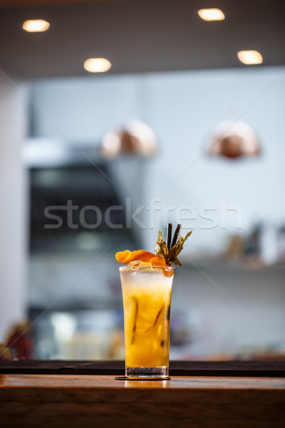 Koud cocktail zomer citrus oranje Stockfoto © grafvision