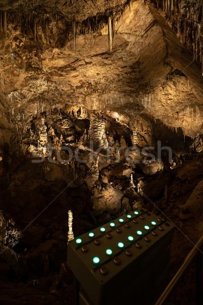 Barlang irányítópanel lökés gombok hang fény Stock fotó © grafvision