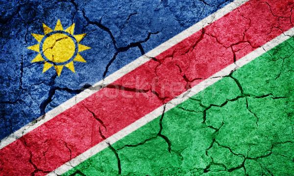 республика Намибия флаг высушите земле землю Сток-фото © grafvision