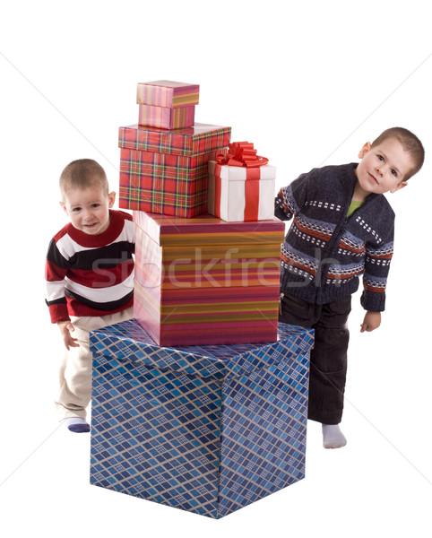 Two boys peeping Stock photo © grafvision