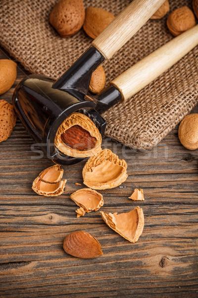 Almonds in kernel Stock photo © grafvision