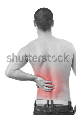 man having a back pain Stock photo © grafvision