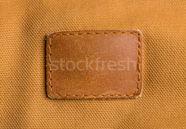 Blank leather label Stock photo © grafvision