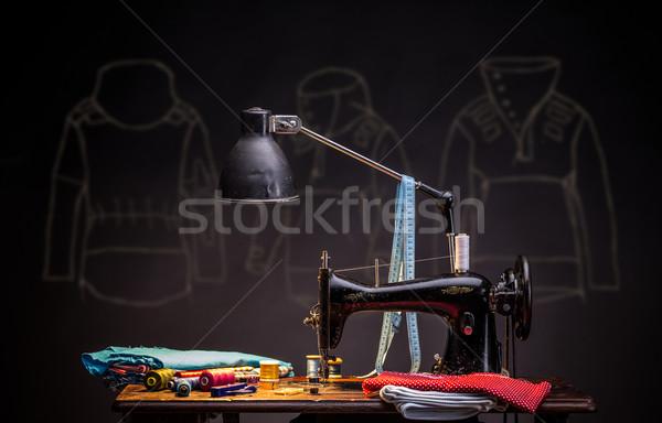 старые швейные машины швейных копия пространства работу Сток-фото © grafvision