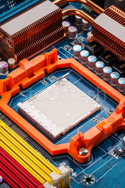 Computer cpu tecnologia blu circuito sfondo Foto d'archivio © grafvision