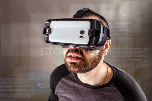 Man experiencing virtual reality Stock photo © grafvision
