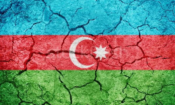 республика Азербайджан флаг высушите земле землю Сток-фото © grafvision