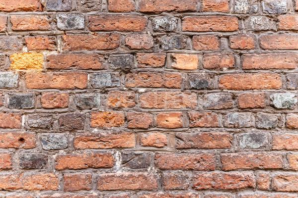 Resistiu parede de tijolos superfície textura fundo vermelho Foto stock © grafvision