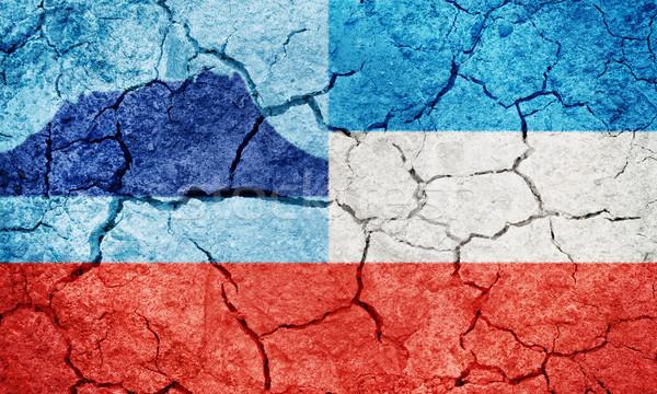 Malajzia zászló száraz Föld föld textúra Stock fotó © grafvision