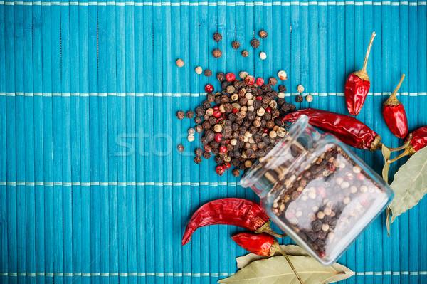 Mix of peppercorns Stock photo © grafvision