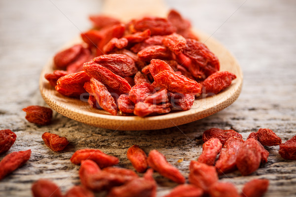 Red dried goji berries Stock photo © grafvision