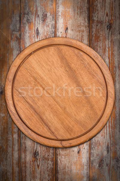 Round chopping board Stock photo © grafvision