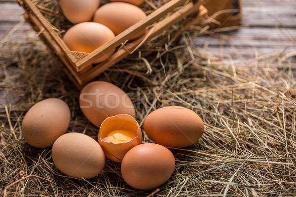 Fresh farm eggs  Stock photo © grafvision