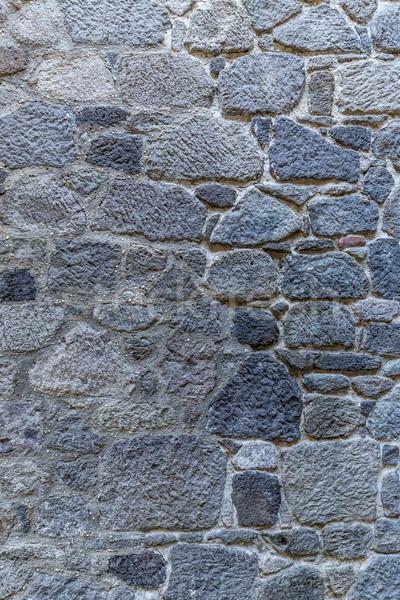 ストックフォト: 石の壁 · 表面 · 平らでない · ひびの入った · 本当の · テクスチャ