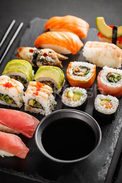 Fresh made sushi set Stock photo © grafvision