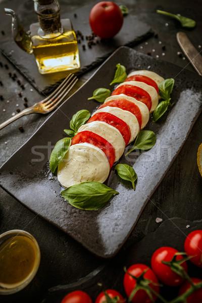 здорового итальянской кухни салат Капрезе зрелый помидоров Сток-фото © grafvision