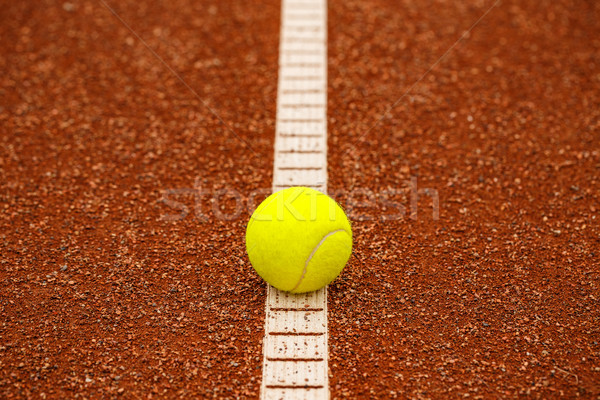 Balle de tennis court de tennis tennis jeu sport Photo stock © grafvision
