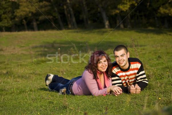 Amor casal feliz bom dia Foto stock © grafvision