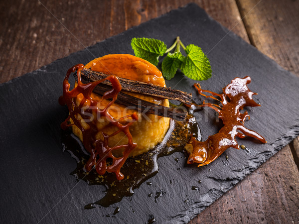 Foto stock: Caramelo · decorado · comida · preto · sobremesa · frio