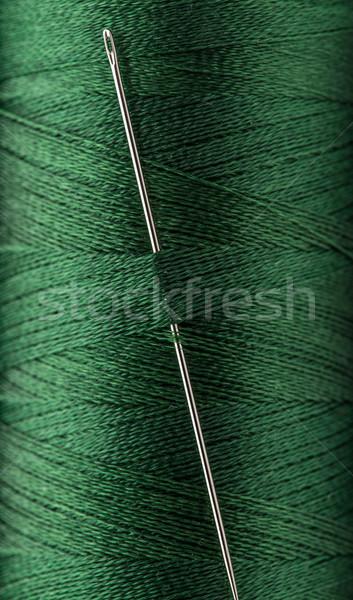 Hilo aguja verde color patrón Foto stock © grafvision