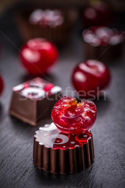 Cherry truffle Stock photo © grafvision