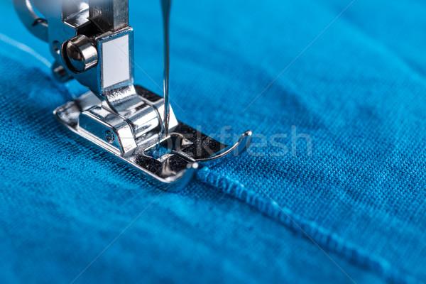 Láb textil kortárs varrógép közelkép szövet Stock fotó © grafvision