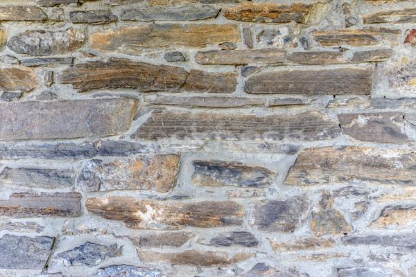 Medievale muro di pietra irregolare texture costruzione abstract Foto d'archivio © grafvision