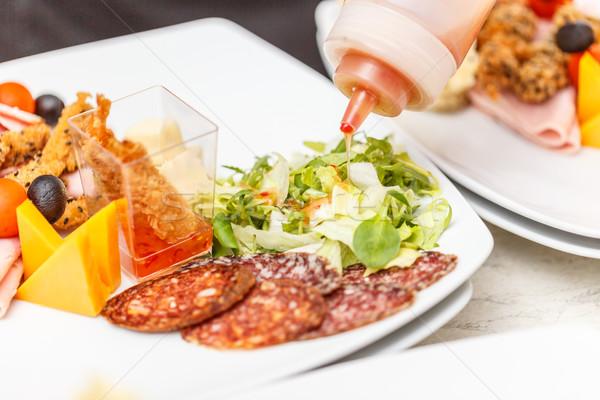 Chef in restaurant kitchen Stock photo © grafvision