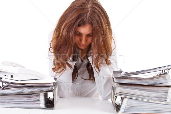Сток-фото: устал · деловой · женщины · рабочих · workspace · бизнеса · женщину