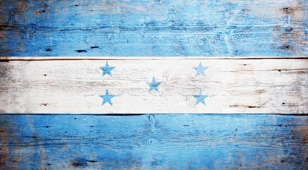 Bandiera Honduras verniciato legno Foto d'archivio © grafvision