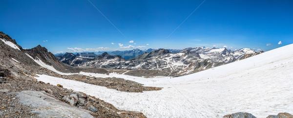 Geleira panorâmico ver belo céu natureza Foto stock © grafvision